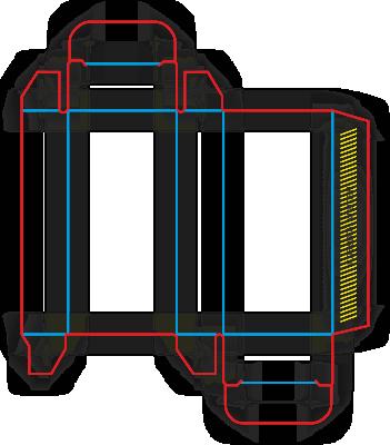 коробка с одним клеевым клапаном